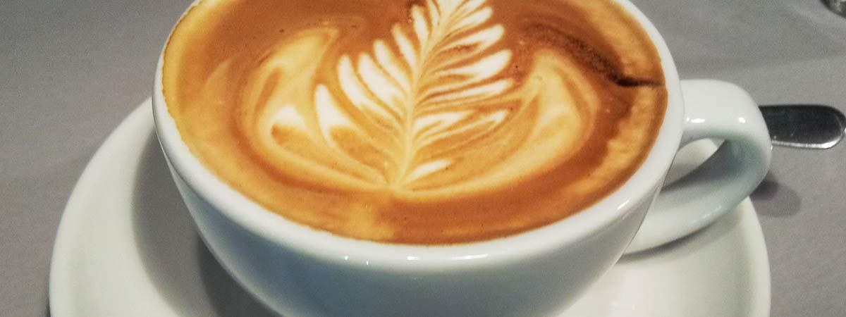 Kaffee mit LatteArt